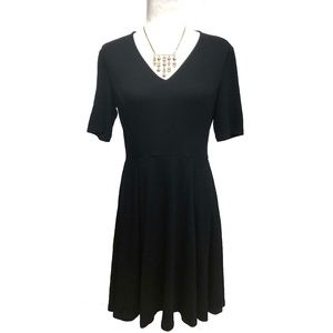 Vince Camuto Black Knit Jersey Dress Fit and Flare